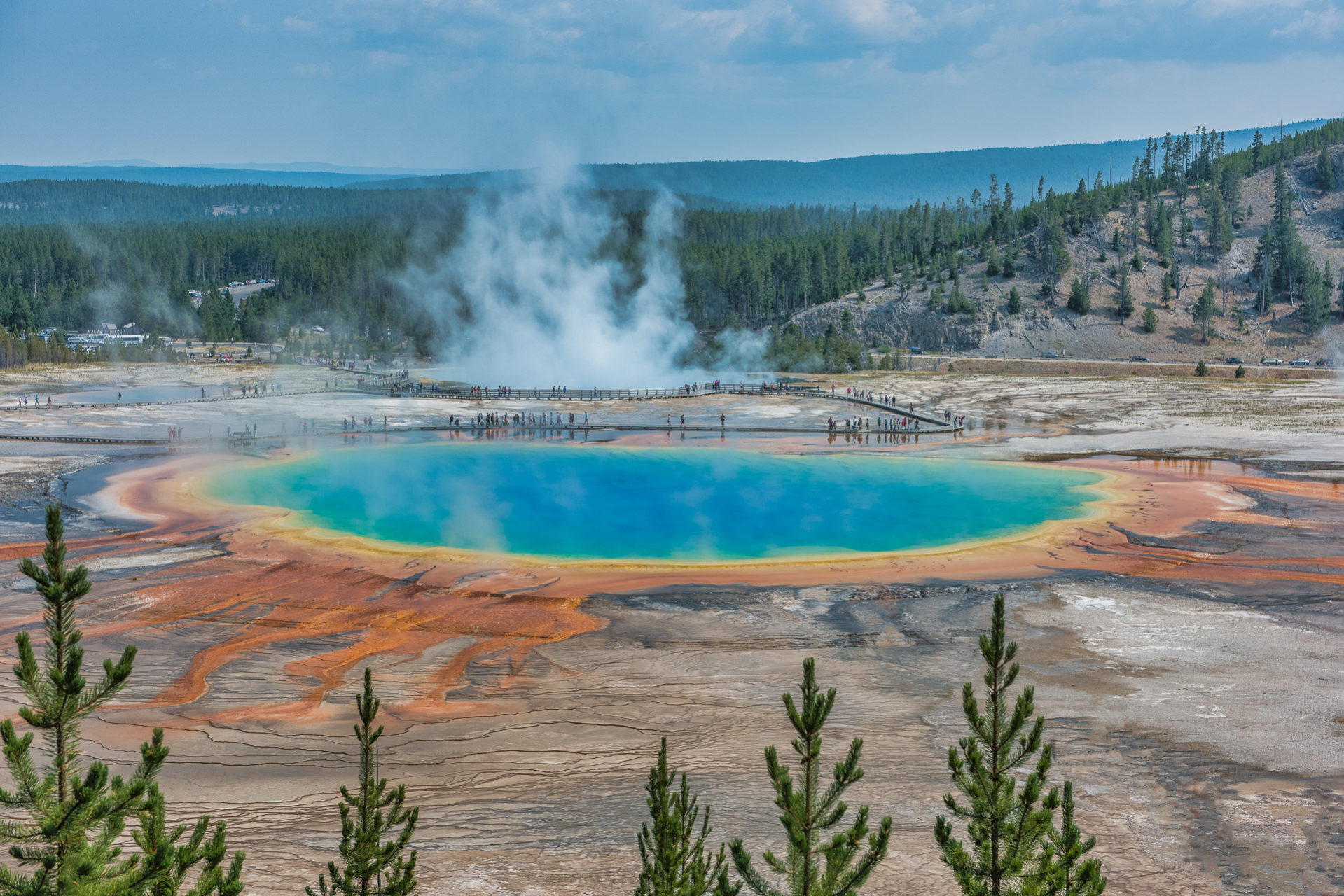 Grand Prismatic - Midway Geyser Basin, Yelllowstone National Park - Part 6 - Travel Obscura